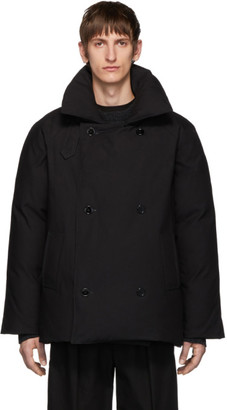 Raf Simons Black Down Double-Breasted Coat