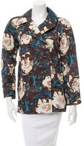 Moschino Double-Breasted Floral Print Jacket