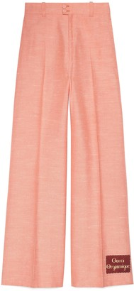 Gucci Wide viscose trousers with Orgasmique