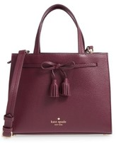 Kate Spade Hayes Street Small Isobel Leather Satchel - Purple