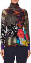 Etro Women's Silk Floral Turtleneck Sweater