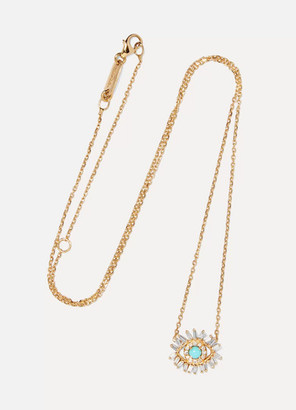Suzanne Kalan 18-karat Gold, Turquoise And Diamond Necklace - one size