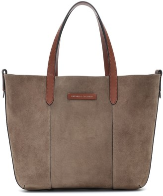 Brunello Cucinelli Reversible suede and leather shopper