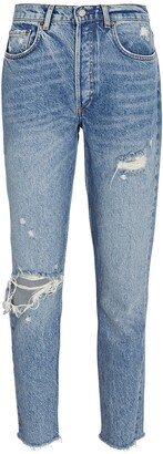Boyish Billy Distressed High-Rise Skinny Jeans