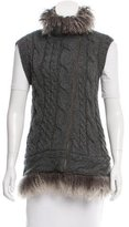 Brunello Cucinelli Shearling-Trimmed Wool Vest