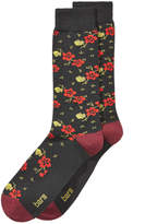 Bar III Men's Floral-Print Socks, Created for Macy's