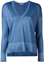 Cruciani V-neck jumper - women - Silk/Cashmere - 40