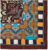 Etro Men's Folkloric-Print Silk Twill Pocket Square