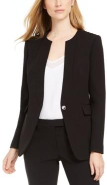 Calvin Klein X-Fit Slim-Fit One-Button Blazer