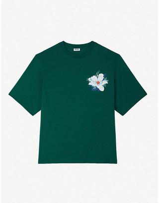 Kenzo x Vans floral-print cotton-jersey T-shirt