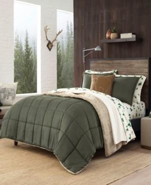 Eddie Bauer Sherwood Dark Green Comforter Set, Twin