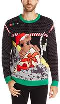 Blizzard Bay Men's Subway Pizza Rat Ugly Christmas Sweater
