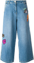 Kenzo patch detail cropped jeans - women - Cotton - 36