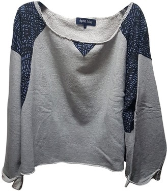 April May Grey Cotton Knitwear for Women