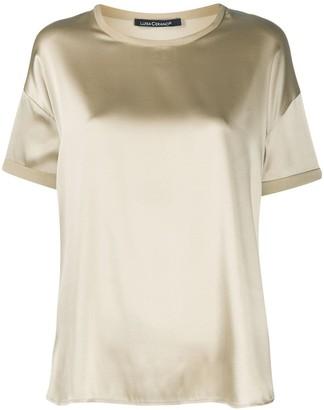 Luisa Cerano short sleeve silk T-shirt