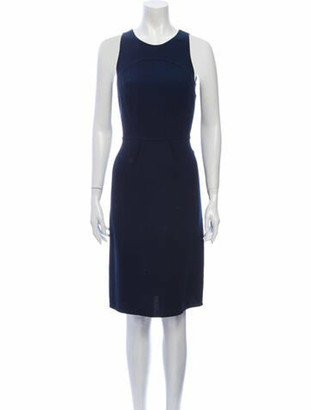 Oscar de la Renta Vintage Knee-Length Dress Wool