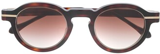 Matsuda Round Frame Tortoise-Shell Sunglasses
