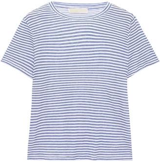MICHAEL Michael Kors Striped Cotton And Tencel-blend Jersey T-shirt