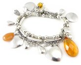 Les Trésors De Lily 'french touch' bracelet 'Kilimanjaro' silvery.