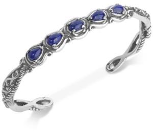 Lapis Carolyn Pollack Lazuli Cuff Bracelet (2-1/4 ct. t.w.) in Sterling Silver