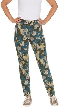 LOGO Lounge by Lori Goldstein Printed French Terry Pull-On Pants
