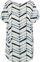 Tart Collections Kat cold-shoulder printed stretch-modal top