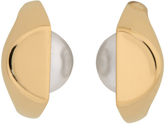 Maison Margiela Gold Pearl Earrings