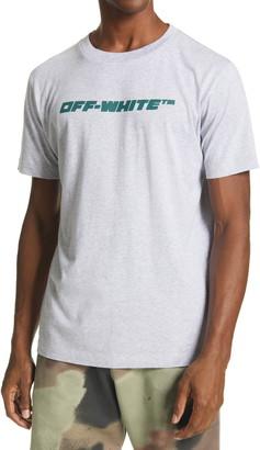 Off-White Trellis Worker Logo Graphic Cotton Tee