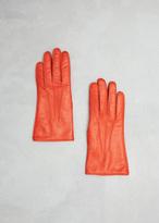 Dries Van Noten orange gloves