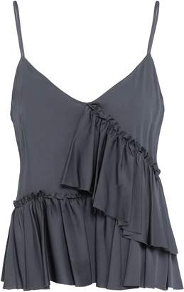 Milly Tiered Silk-blend Top