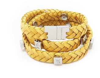 Brio Tissuville Bracelet Mustard Silver