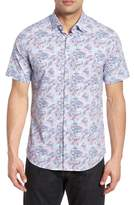 Stone Rose Contemporary Fit Wave Print Sport Shirt
