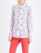Sandro Star-print silk blouse