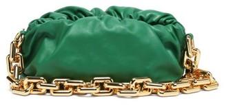 Bottega Veneta The Chain Pouch Leather Clutch Bag - Green Gold