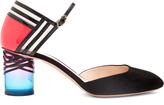 Nicholas Kirkwood Zaha Perspex-heel suede pumps