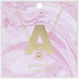 Accessorize Initial A Pendant Necklace