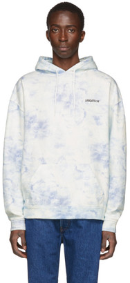 Axel Arigato White and Blue Clouds London Hoodie