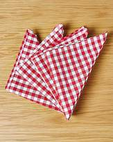 Fashion World Gingham Check Set of 4 Napkins Red
