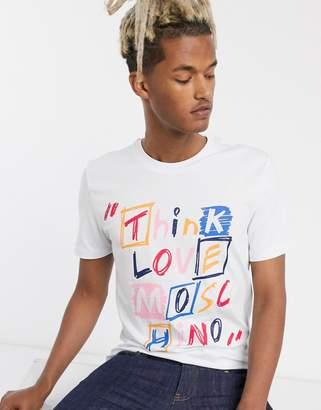 Love Moschino think love t-shirt-White