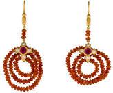 Cathy Waterman 22K Fire Opal, Pink Tourmaline & Diamond Chandelier Earrings