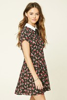 Forever 21 FOREVER 21+ Floral Print Tie-Neck Dress