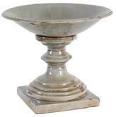 A&B Home Ceramic Pillar Candle Holder - Rustic Finish