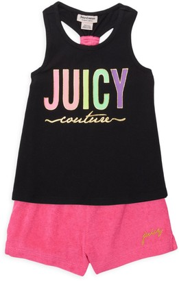 Juicy Couture Little Girl's Two-Piece Tank Top & Shorts Set