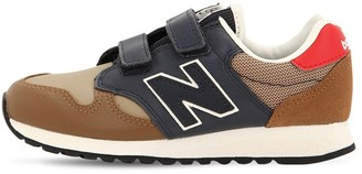 New Balance 520 LEATHER & MESH STRAP SNEAKERS