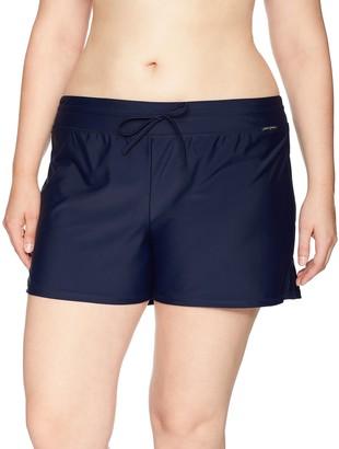 ZeroXposur Women's Plus Size Swim Short Bottom with Brief