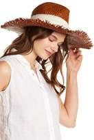 Michael Stars On The Fray Wide Brim Raffia Hat
