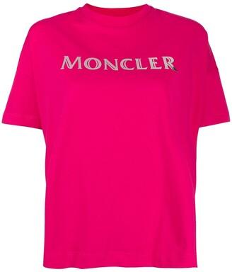 Moncler logo print cropped T-shirt