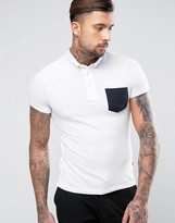 French Connection Polo Shirt With Contrast Pocket