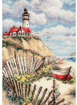 "Dimensions Cliffside Beacon"" Counted Cross Stitch Kit, Multi-Colour"