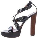 Lanvin Patent Leather Platform Sandals